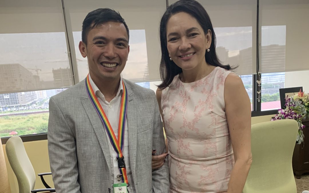 Senator Risa Hontiveros Welcomes Filipino LGBT Europe at the Philippine House of Senate