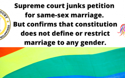 Philippine Supreme Court junks petition on Same-Sex-Marriage due to technicality