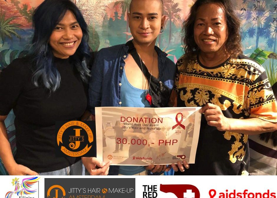 Jitty's Hair & Make-up delivers HIV/AIDS donation in the Philippines