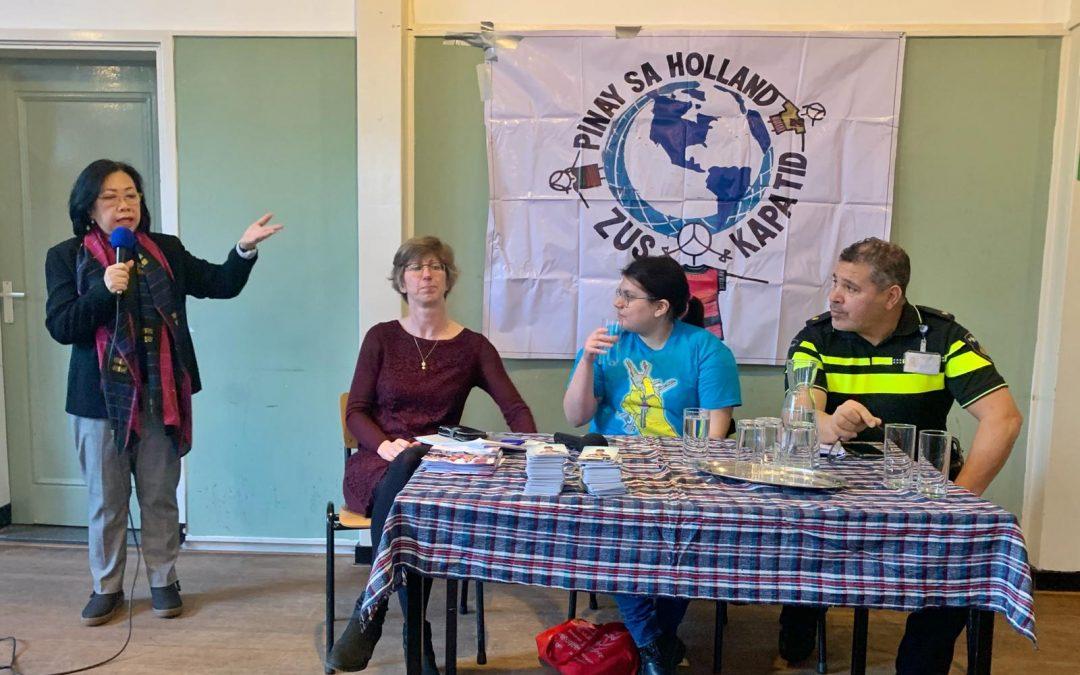 Pinay sa Holland held Migrants Rights Talk