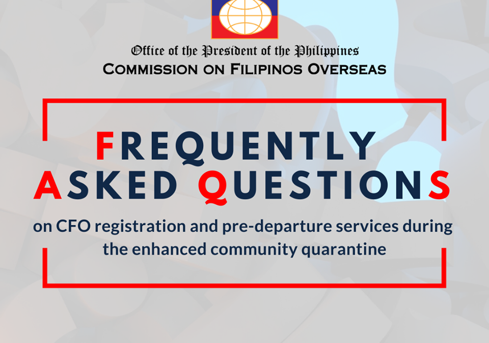 Commission on Filipio Overseas' FAQ for Spouse of a Foreign National / Au Pairs, Emigrants or EVP participants