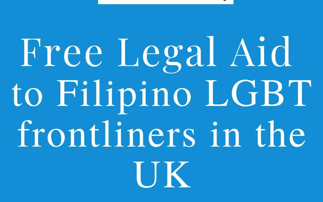 Filipino LGBT Europe offers free legal aid to LGBT frontliners in UK