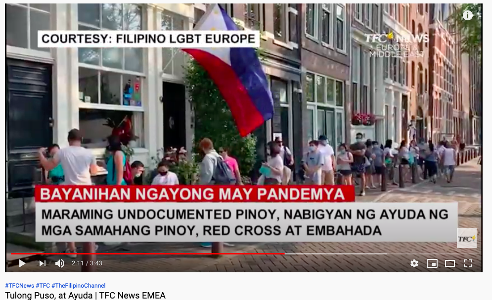 Filipino LGBT Europe's work in Amsterdam featured at The Filipino Channel Balitang Global News