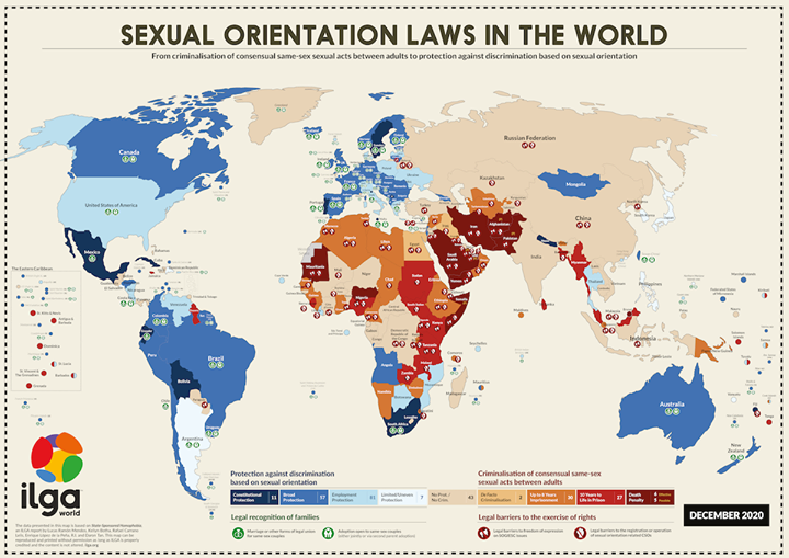 ILGA World: Consensual Same-Sex Sexual Acts between adults is Legal in the Philippines