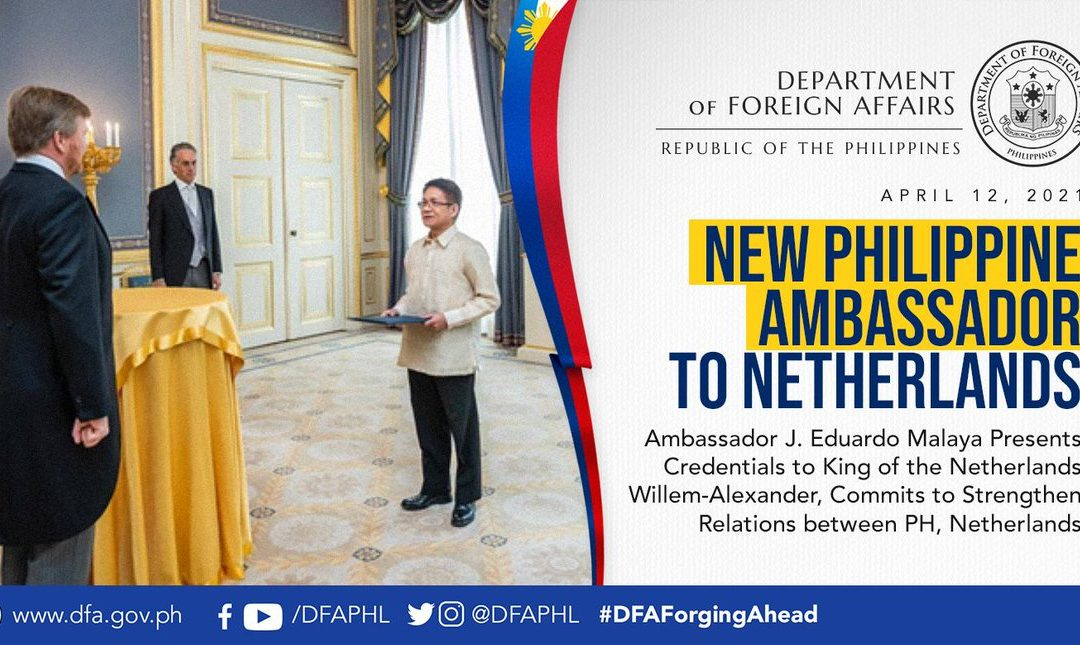New Philippine Envoy to the Netherlands Ambassador Malaya meets the Filipino Community