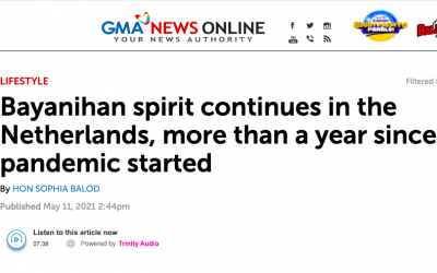 One year of BAYANIHAN in Netherlands featured on GMA News
