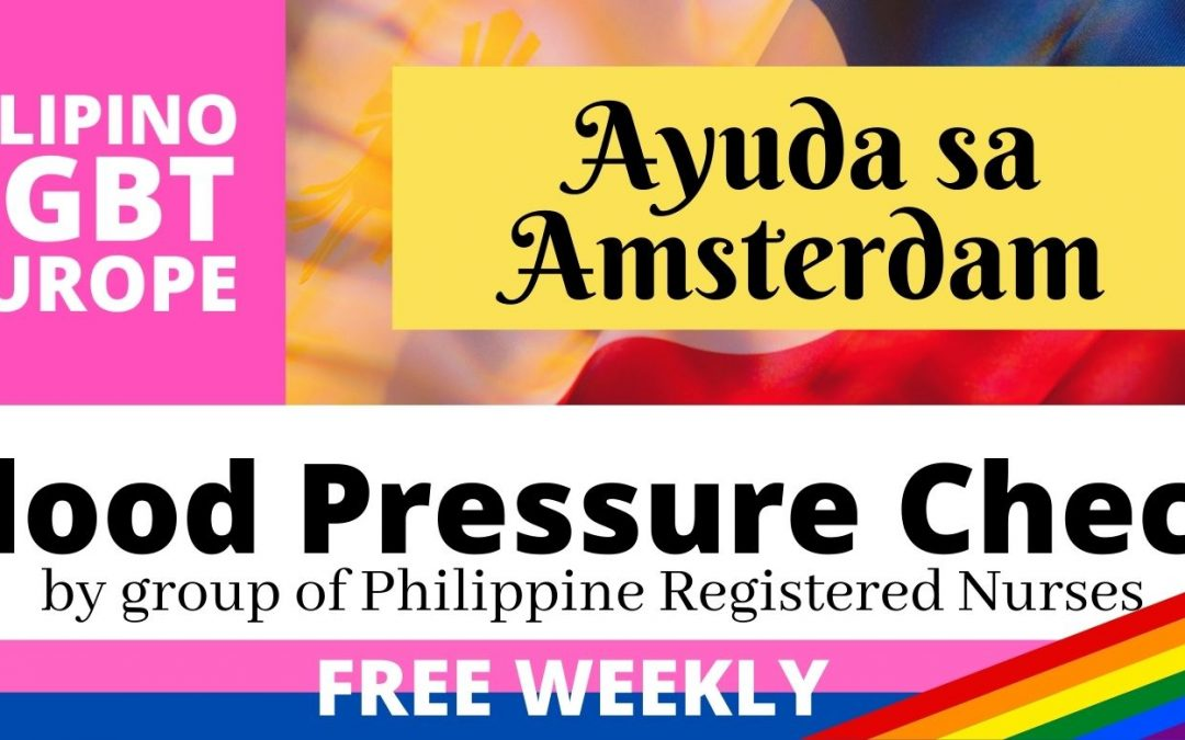 Free Blood Pressure Check offered weekly at Ayuda sa Amsterdam
