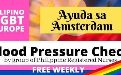 Free Blood Pressure Check offered weekly at Ayuda sa Amsterdam