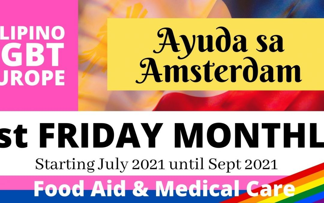 Ayuda sa Amsterdam schedule from July 2021 until Sept 2021