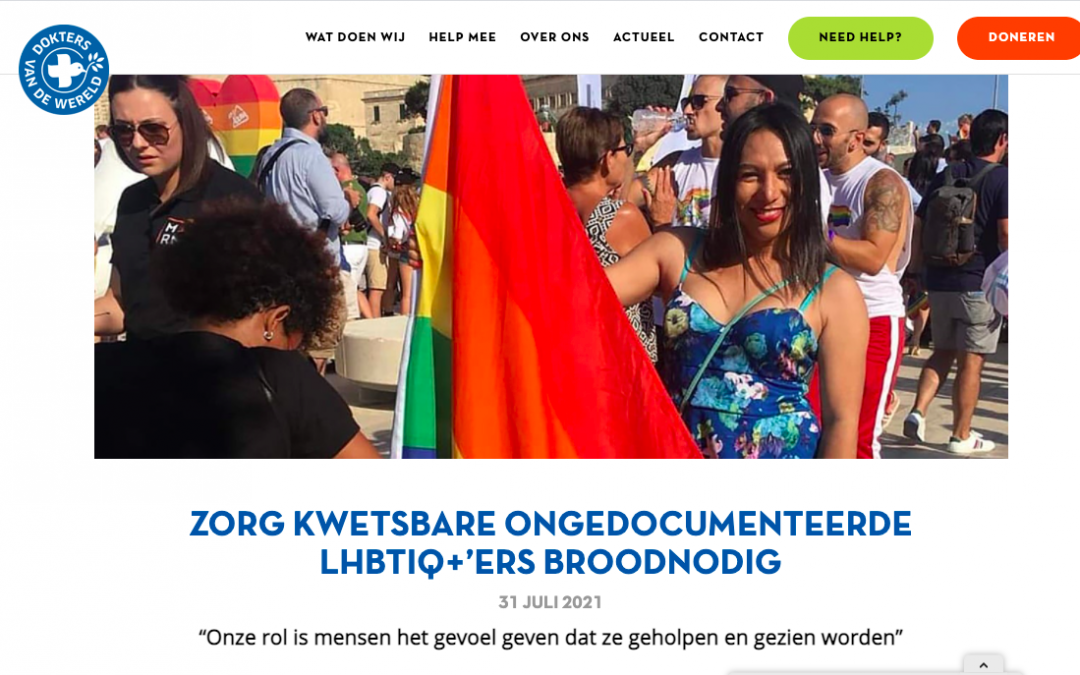 DvdW: CARE FOR VULNERABLE UNDOCUMENTED LGBTIQ+ PEOPLE URGENTLY NEEDED