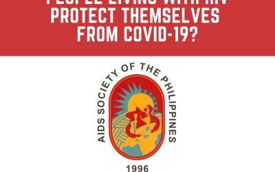 How can people living with HIV protect themselves from COVID-19?